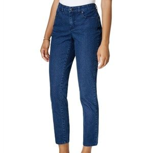 Charter Club Bristol Skinny Ankle Polka Dot Jeans